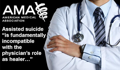 "Assisted suicide ""is fundamentally incompatible with the physician's role as healer, would be difficult or impossible to control, and would pose serious societal risks."