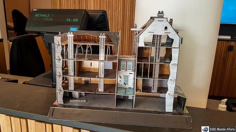 Maquete da Casa de Anne Frank em Amsterdam