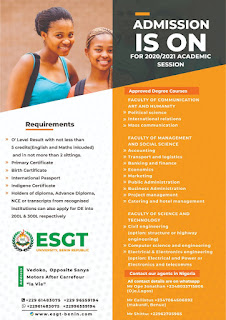 ESGT Benin Fees and tuition fee