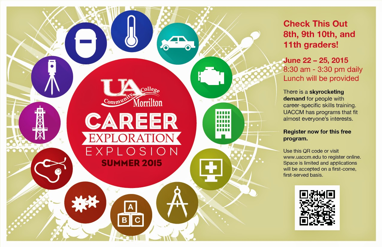 uaccm the campus link career exploration events happening for high school students register now by clicking here
