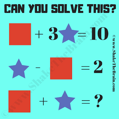 Can you solve this Maths Shapes Equations Picture Puzzle?