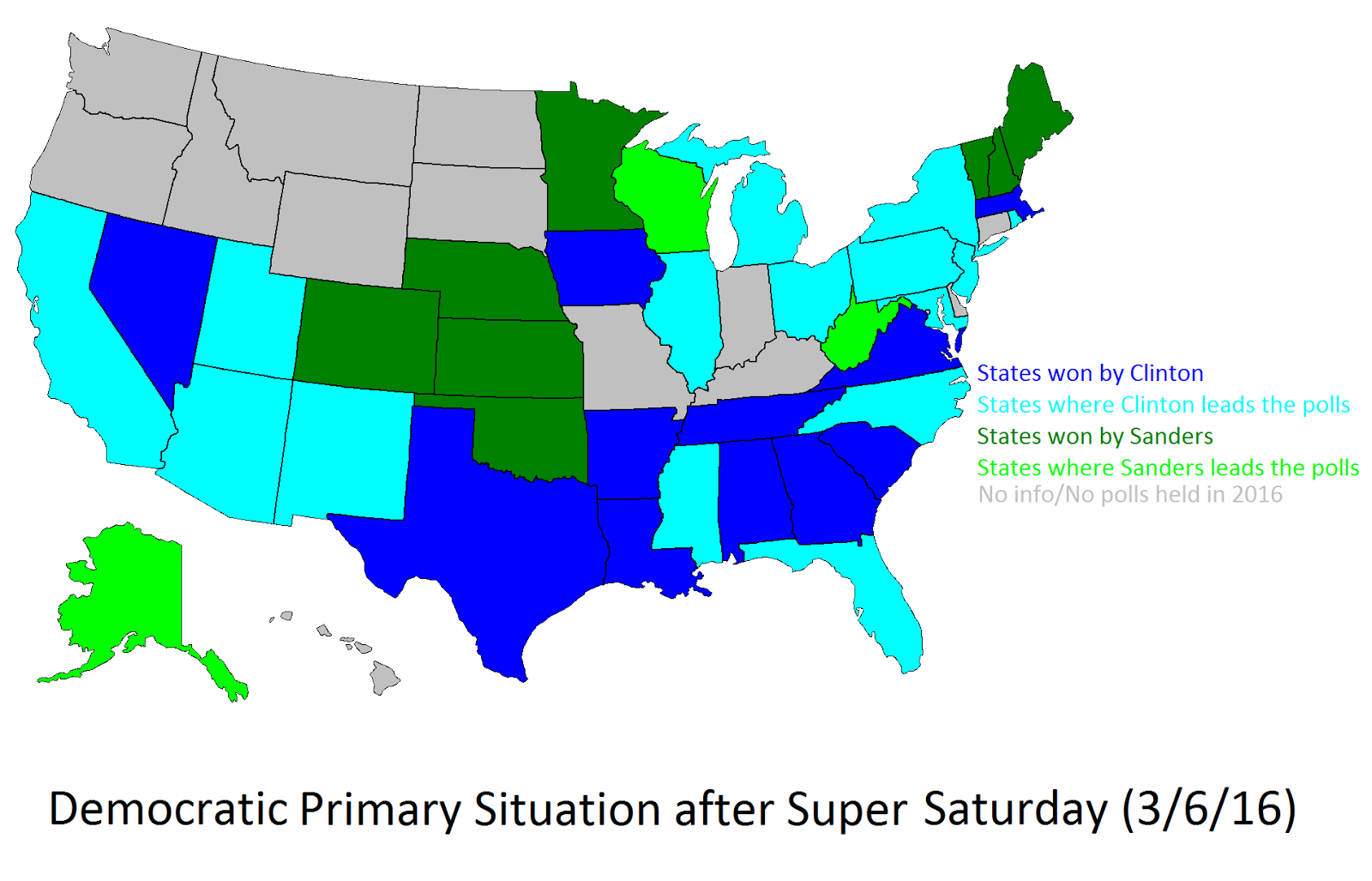 Democratic Primary Situation after Super Saturday