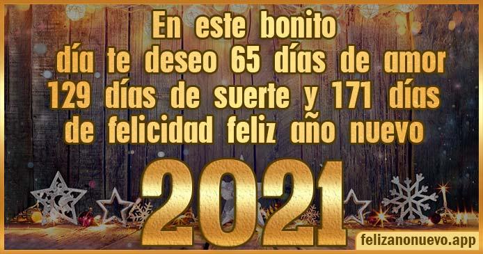 Felicitaciones de año nuevo 2021