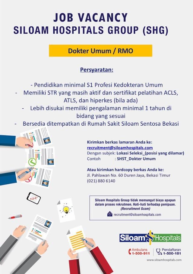 Loker Dokter Siloam Hospitals Group (SHG)