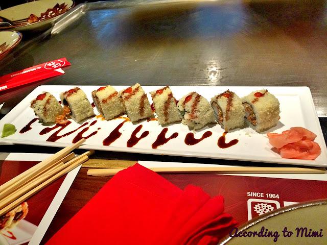 The Shrimp Crunch Roll at Benihana, Kuwait