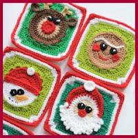 Grannys navideños a crochet