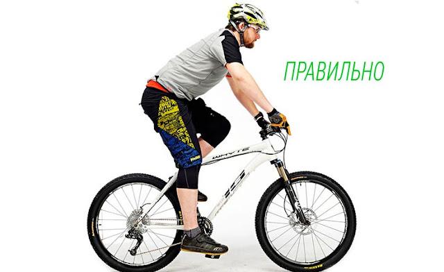 правильная посадка на велосипеде