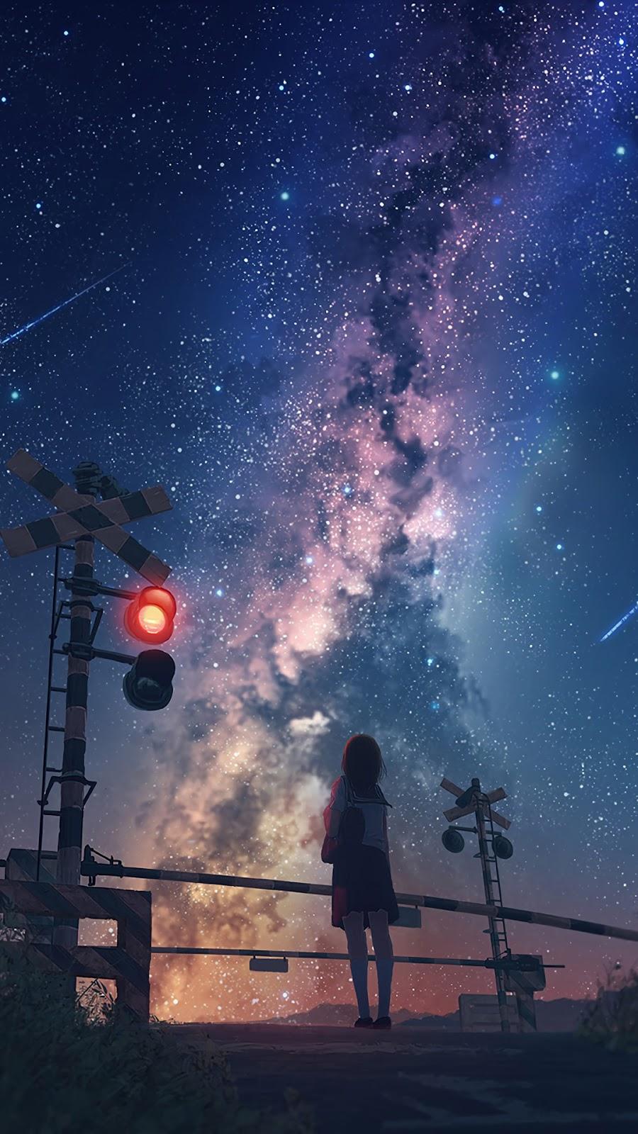 Ngắm sao giữa bầu trời đêm