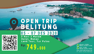 promo open trip belitung 3 hari 2 malam