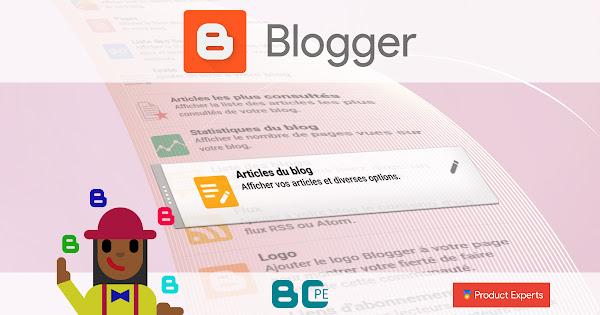 Blogger - Fiche technique du gadget Articles du blog