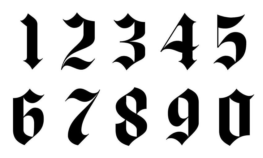 Numbers Font Tattoo