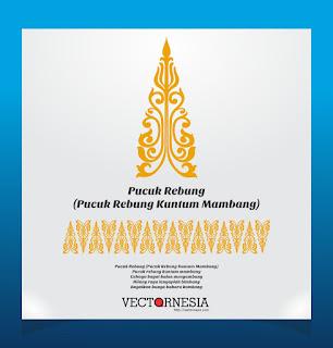 Free Download Vector Motif Pucuk Rebung Kuntum Mambang-Vectornesia.com