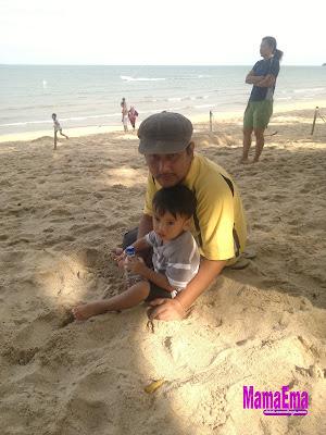 posing atas pasir