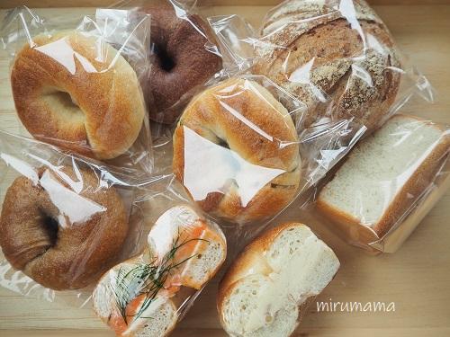 ベーグルとパン