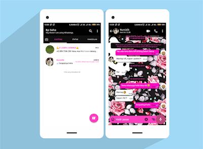 Tema WhatsApp Hello Kitty Flower