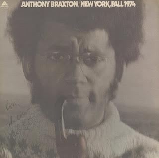 Anthony Braxton, New York, Fall 1974