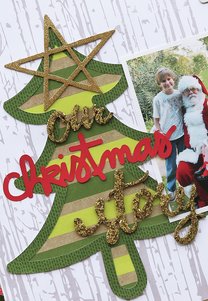 Christmas Scrapbook Page by Mary Ann Jenkins featuring 17turtles Digital Cut Files