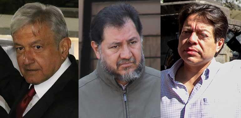 AMLO, Noroña y Delgado, señalados por gobierno como promotores vs. 'gasolinazo'