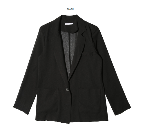 Notched Single Button Jacket