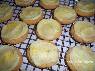Easy Lemon {Cake Mix} Cookies.  SmellingCoffee.com