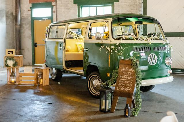 Classic green Volkswagen Bus Photobooth