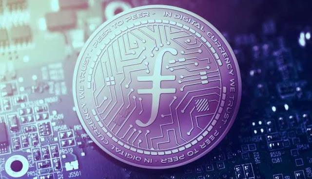 Ilustrasi Gambar Token Filecoin (FIL)