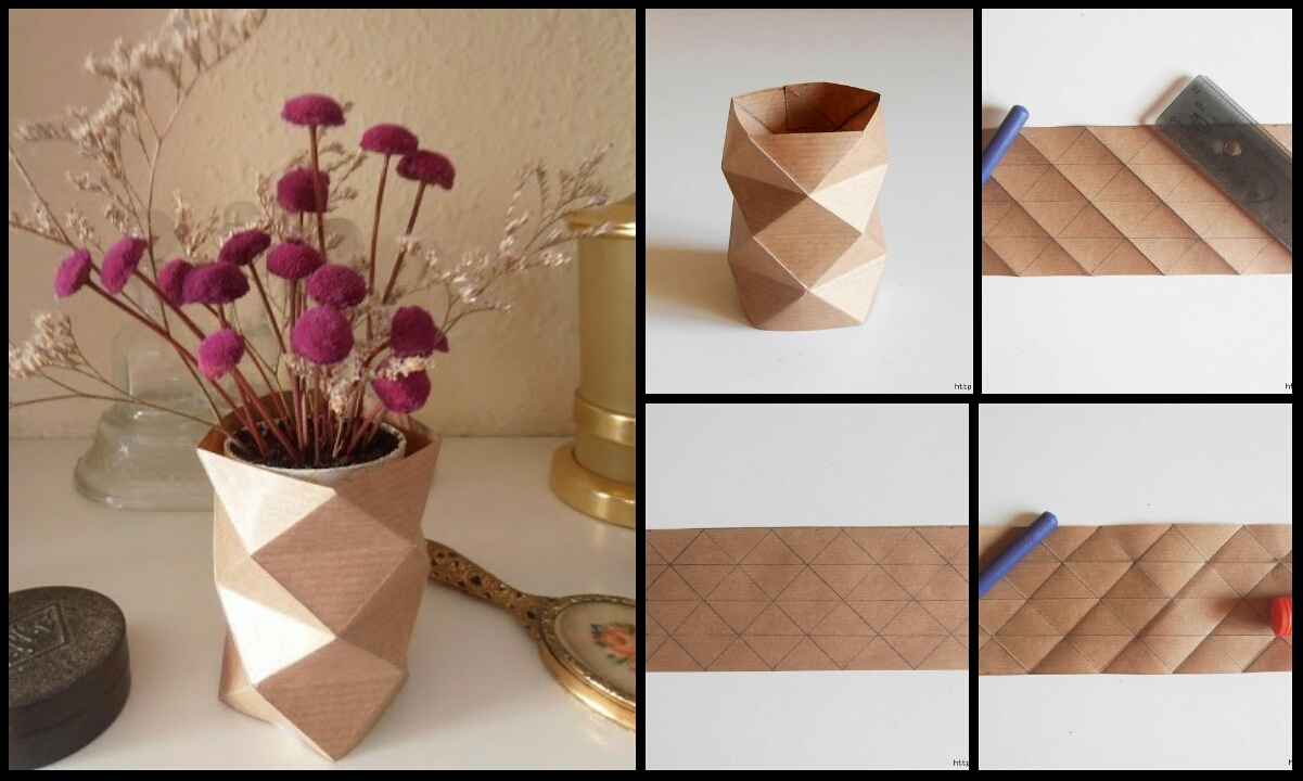 Origami stylish vase crazzy craft origami stylish vase reviewsmspy