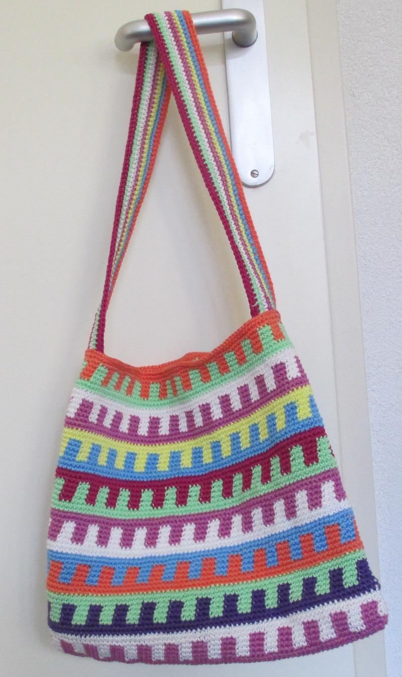 Schoudertas Haken : Heyleuk tapestry tas multicolor