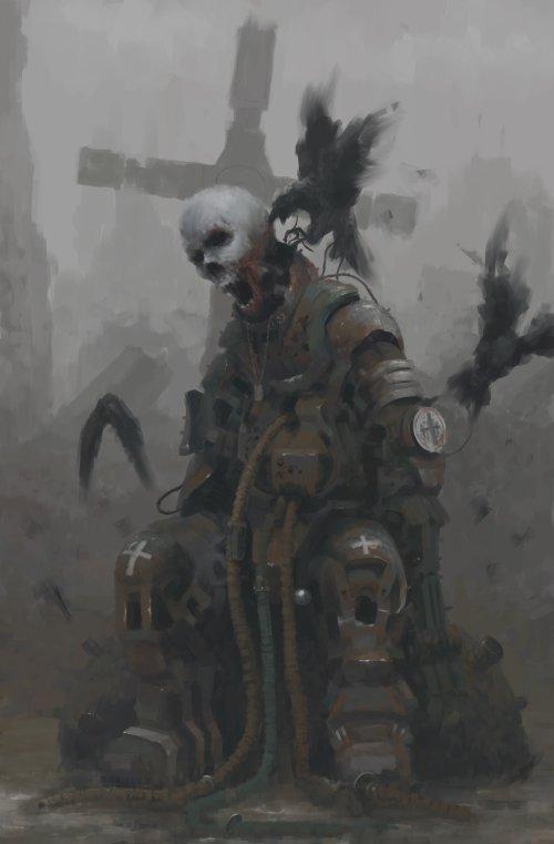 Rostyslav Zagornov datem deviantart ilustrações pinturas digitais fantasia ficção terror sombrio