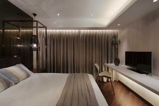 Moderno dormitorio gris