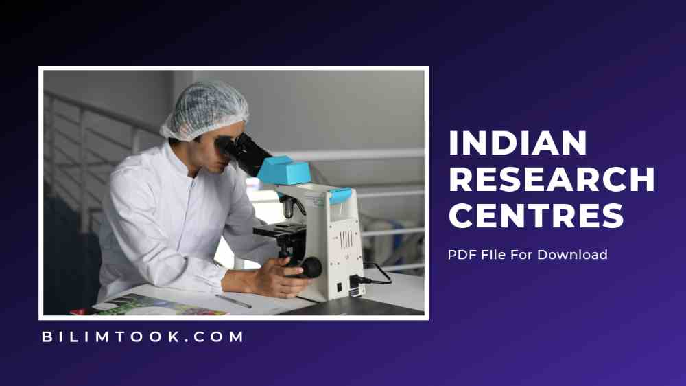 List of Important Research Centers in India - PDF
