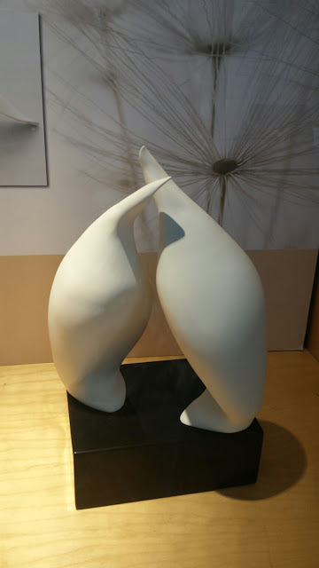 Beautiful porcelain sculpture by Tanis Saxby, on display at Shadbolt Center for the Arts in Burnaby BC.