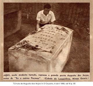 Túmulo de Augusto dos Anjos em 1956