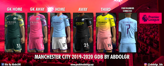 Manchester City Season 2019-2020 Kits PES 2013