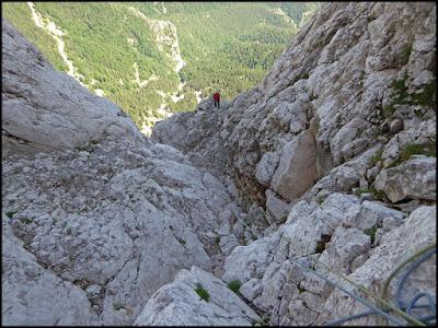 Escalada en el Pedraforca, vía Homedes al Gat