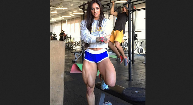 Bakhar Nabieva Addicted to bodybuilding, she wants more massive thighs