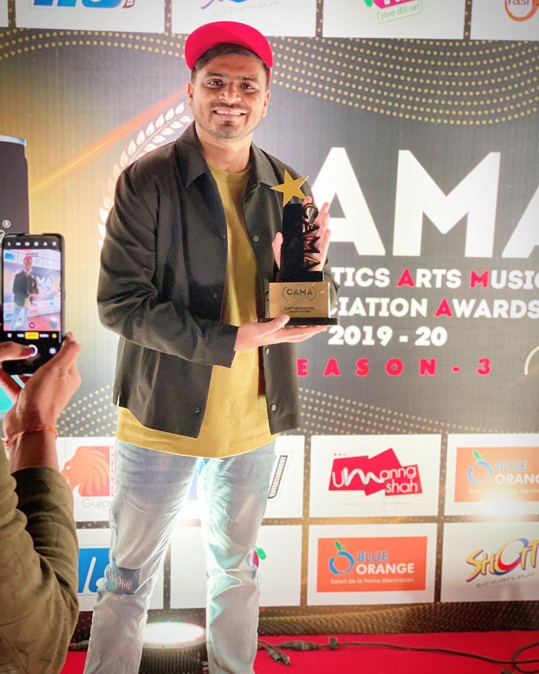 Amit Bhadana Won CAMA Award