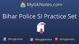 Bihar Police SI Practice Set in Hindi PDF