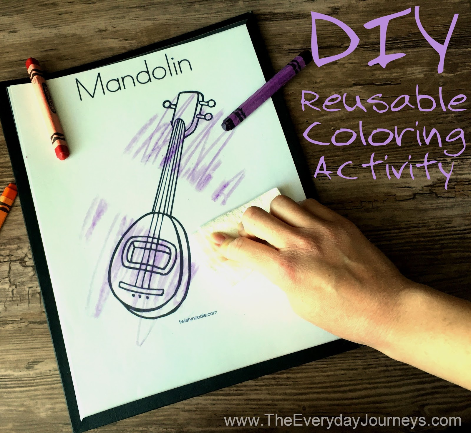the everyday journeys travel hack diy reusable coloring activity. Black Bedroom Furniture Sets. Home Design Ideas