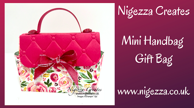 Nigezza Creates with Stampin' Up! Best Dressed Gift Bag Mini Hand Bag