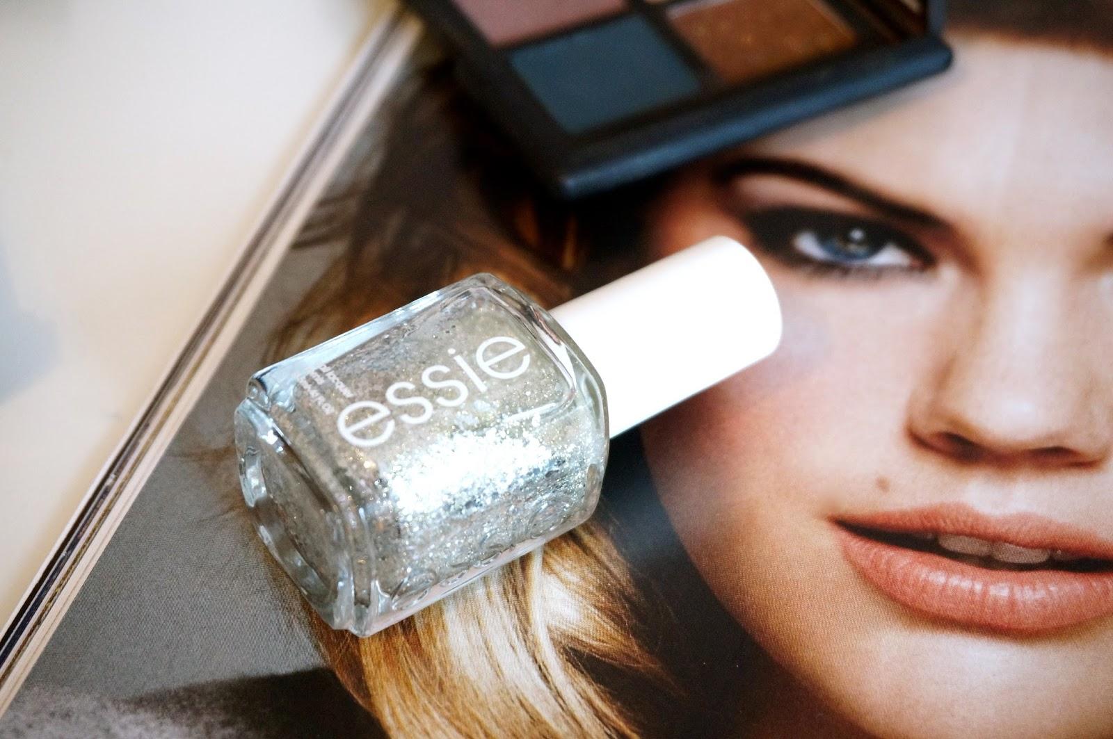 essie sparkly nail polish