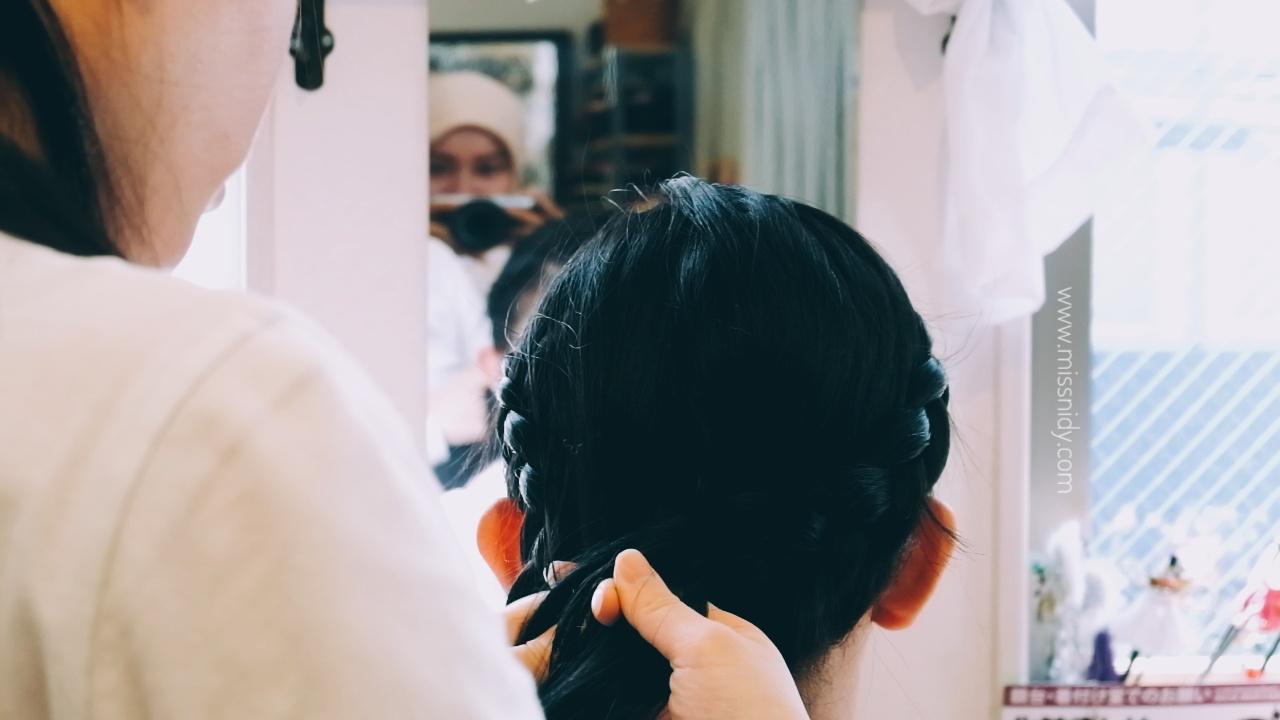 kimono hair do