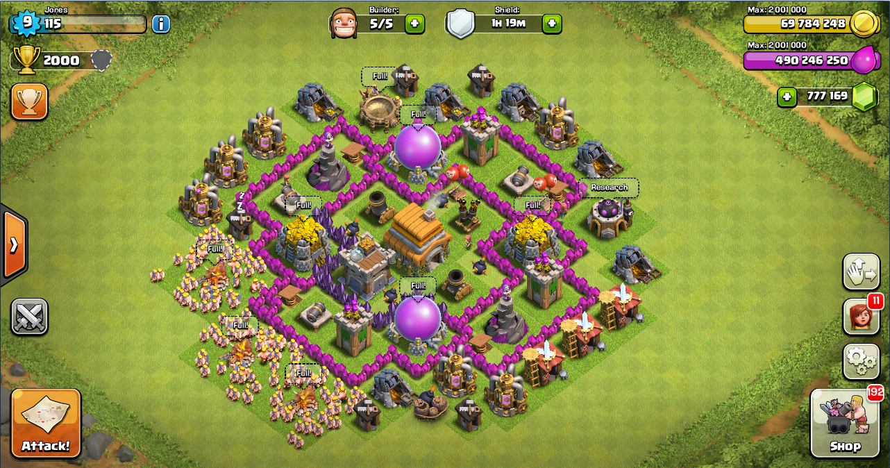 Base Coc Th 6 Max Terkuat 7