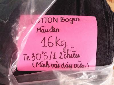 Cotton bogen 2 chiều 16kg te30'S/1 mình vải dày vừa