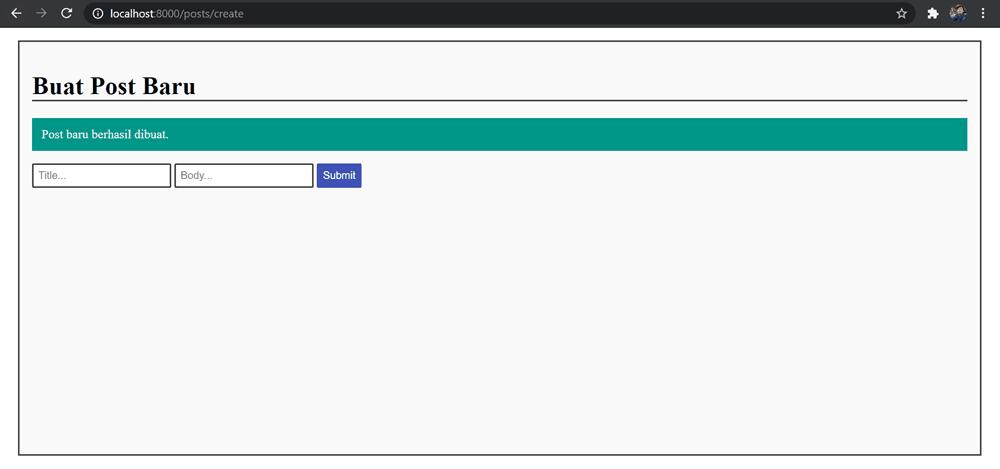 Tutorial CRUD Laravel 8 - MySQL Database