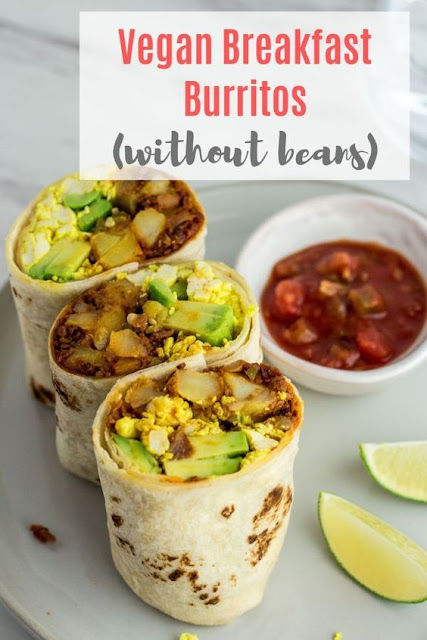 Vegan Breakfast Burritos (without beans)