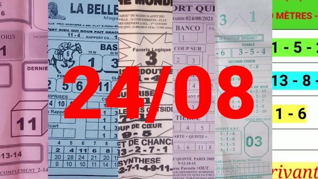 Pronostics quinté pmu Mardi Paris-Turf-100 % 24/08/2021