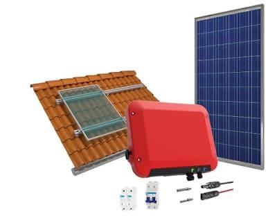 Foto do Kit completo de energia solar de 1,44 kWp
