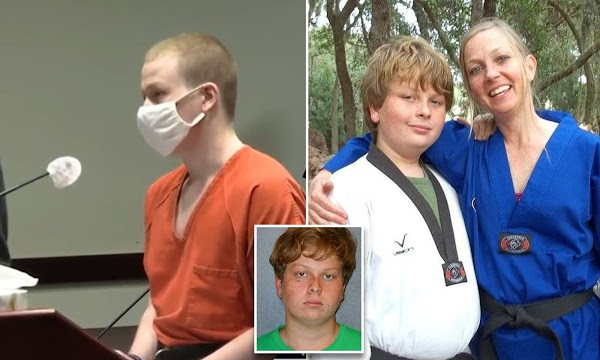 Teen, 15, strangled his mom to death and dumped her body after fight over grades