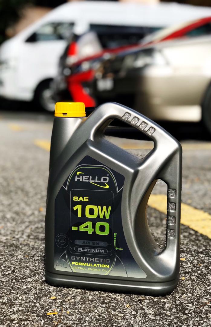 Dengan Hello™ Synthetic Formulation Engine Oil Lebih Senyap Lebih Lancar